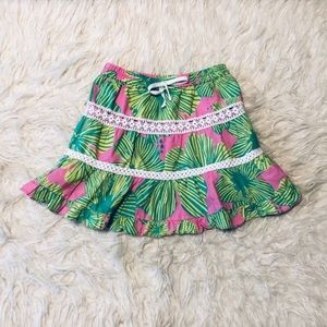 Lilly Pulitzer Tropical Palm Crochet Tiered Skirt